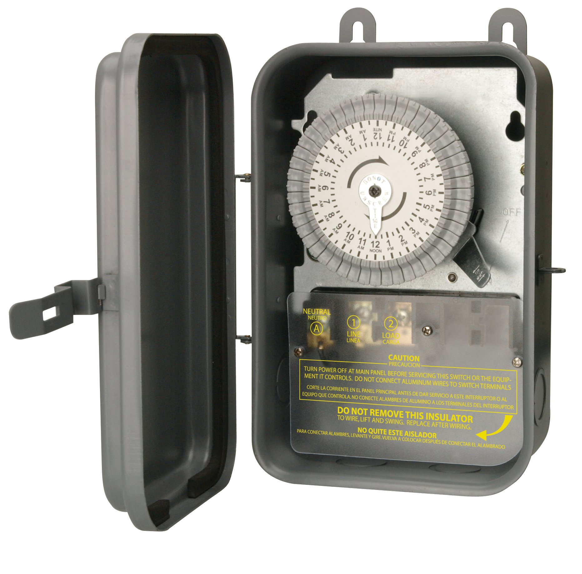 Woods 59101RWD Outdoor 24-Hour Heavy Duty Mechanical Time Switch, 120V/40 SPST by Woods