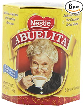 Nestle Mexican Chocolate Abuelita Drink Mix, 6 Tabs in 19-Ounce Package (Pack