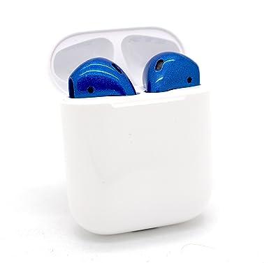 Auriculares inalámbricos Apple AirPods – Auriculares pintados a medida (azul real)