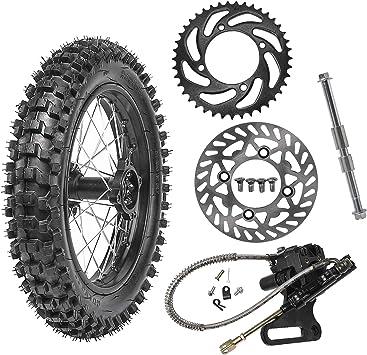 WPHMOTO 90//100-14 Rear Wheel Rim With 15mm Bearing /& Hydraulic Disc Brake Caliper for Dirt Pit Bike