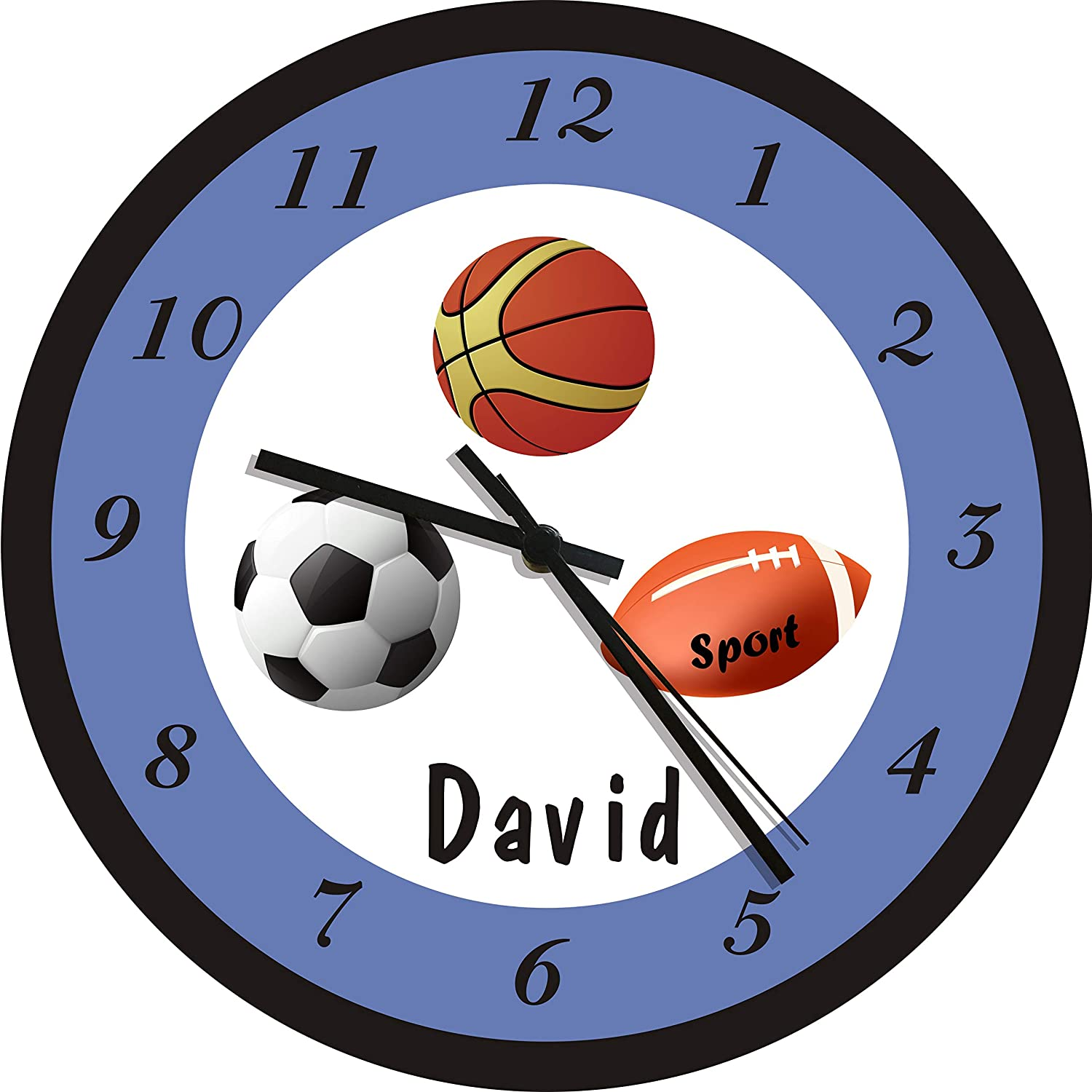 BASKETBALL SPORTS CLOCK Large 10.5 Wall Clock