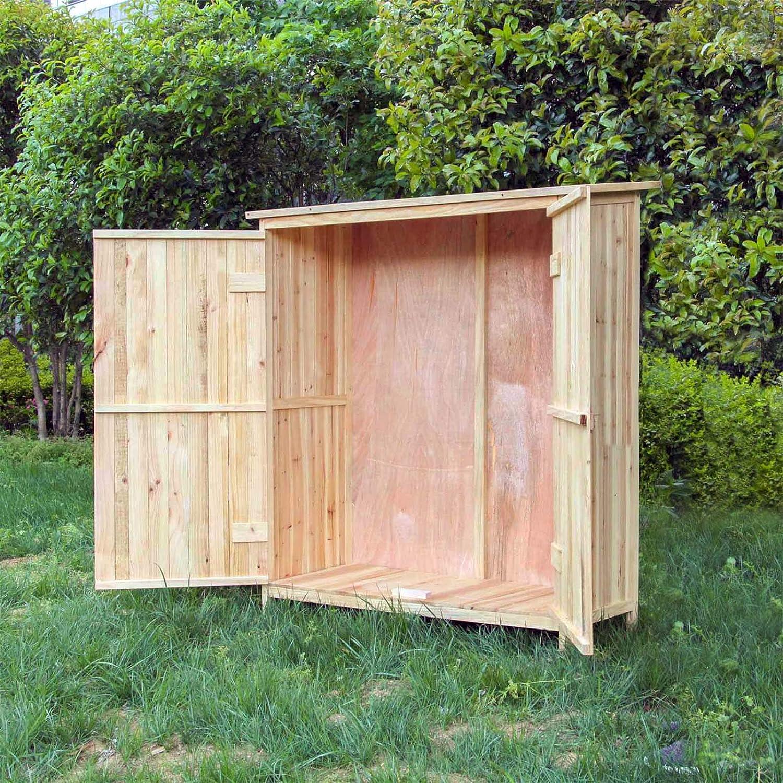 Caseta de herramientas Puerta doble Caseta de jardín Cobertizo Armario de jardín Armario para aperos: Amazon.es: Jardín