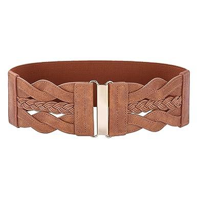 Women 50s Elastic Stretchy Retro Wide Waist Cinch Belt at Amazon ... c98aadaad
