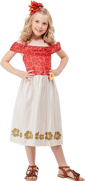 Smiffys 51031S - Disfraz de princesa hawaiana para niñas, talla S ...