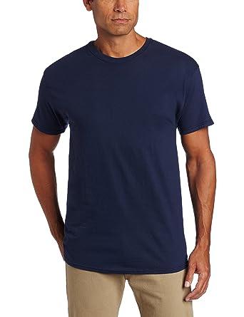 d0a1ef3d Hanes Ultimate Men's Classics X-Temp Crew Neck Soft Breathable T-Shirt, Navy