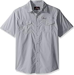 8d7ab3d8b Amazon.com: Rocawear Light Green Hawaiian Button Down Shirt Sport ...