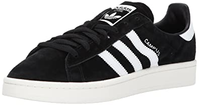 adidas Originals Mens Campus Sneaker, Black Chalk White, 4 Medium US