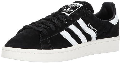 buy popular 7c18f 77228 Adidas ORIGINALS Men s Campus Sneaker, Black Chalk White, 4 Medium US