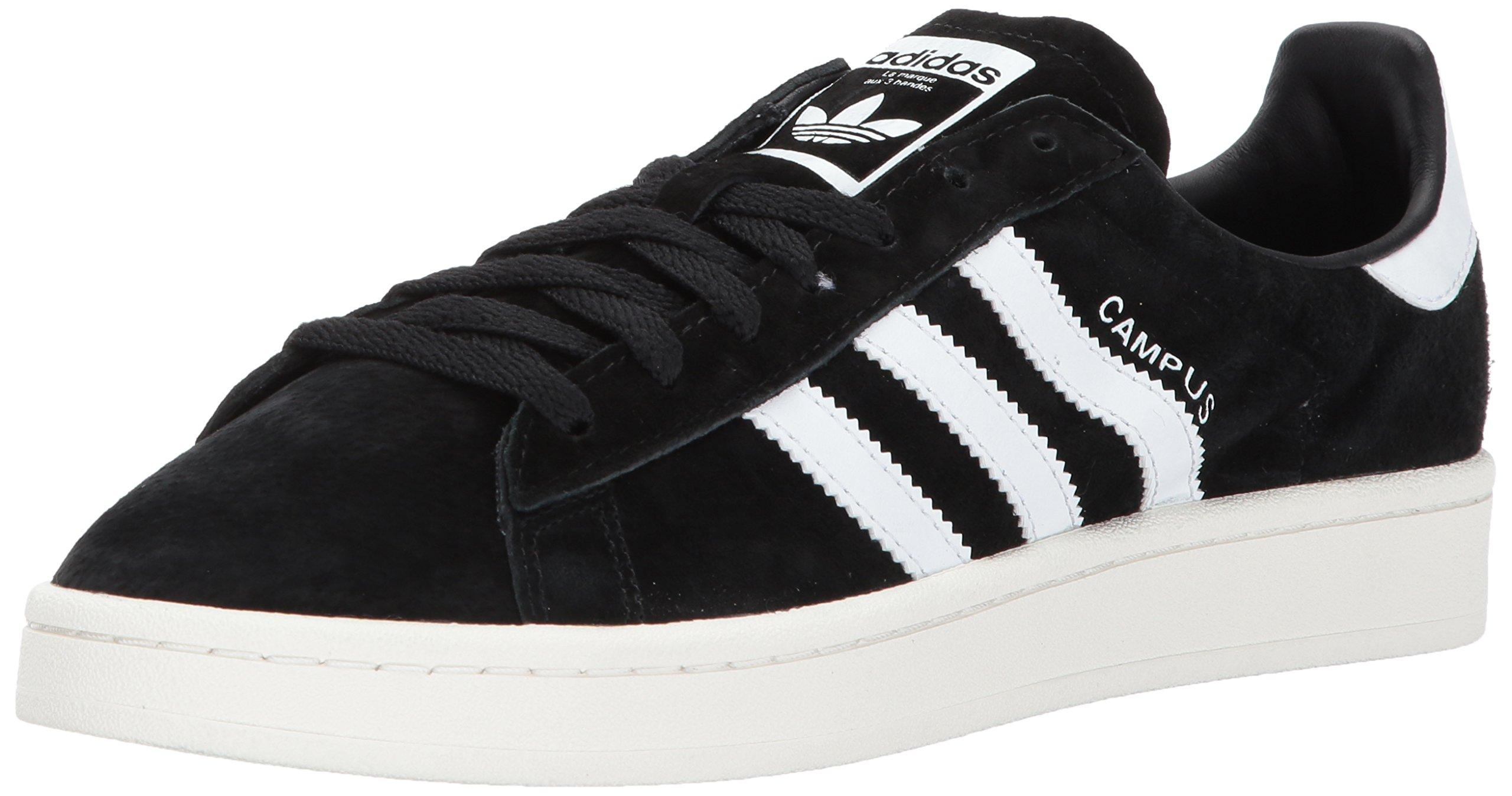adidas Originals Men's Campus Sneakers, Black Chalk White, (6 M US)