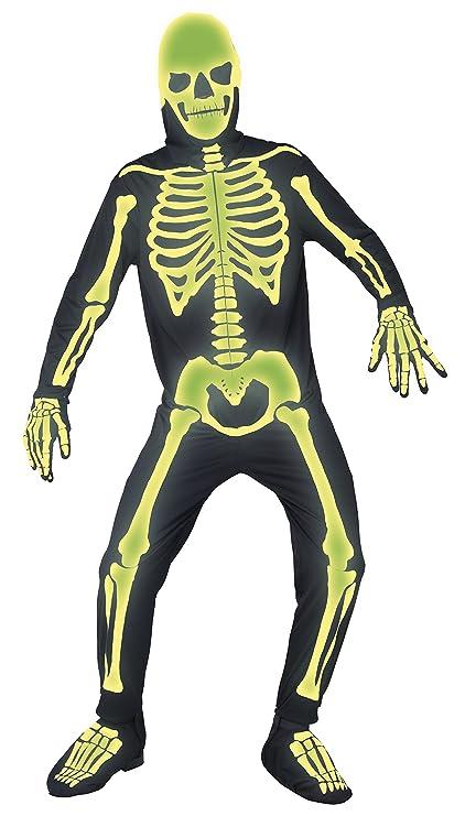 Amazon.com: Smiffys Mens Graveyard Bones Costume, Jumpsuit ...