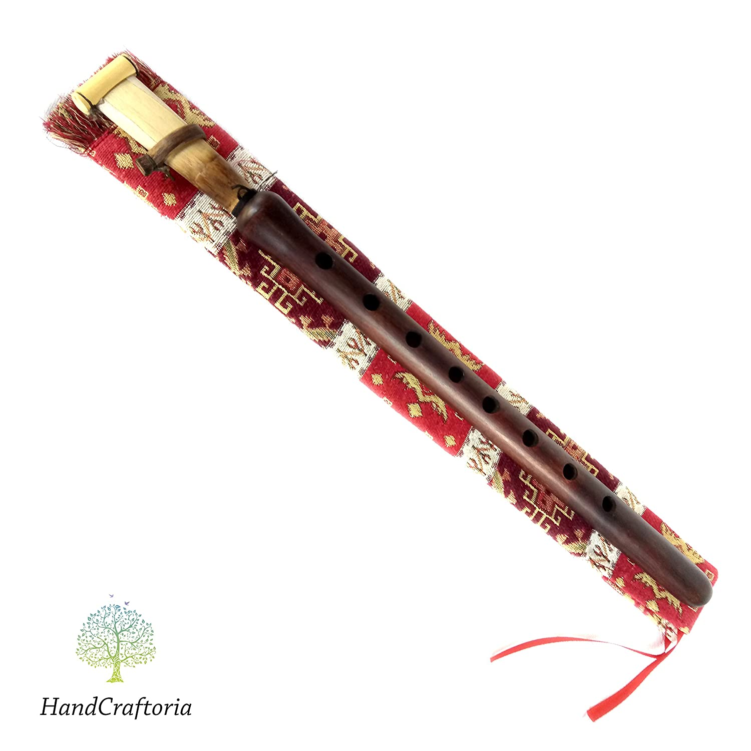 Armenian DUDUK for student - beginner - Apricot Wood Armenian Oboe Balaban Professional Woodwind Instrument for intemediate skill level - free Gift national case with Playing Instruction HandCraftoria