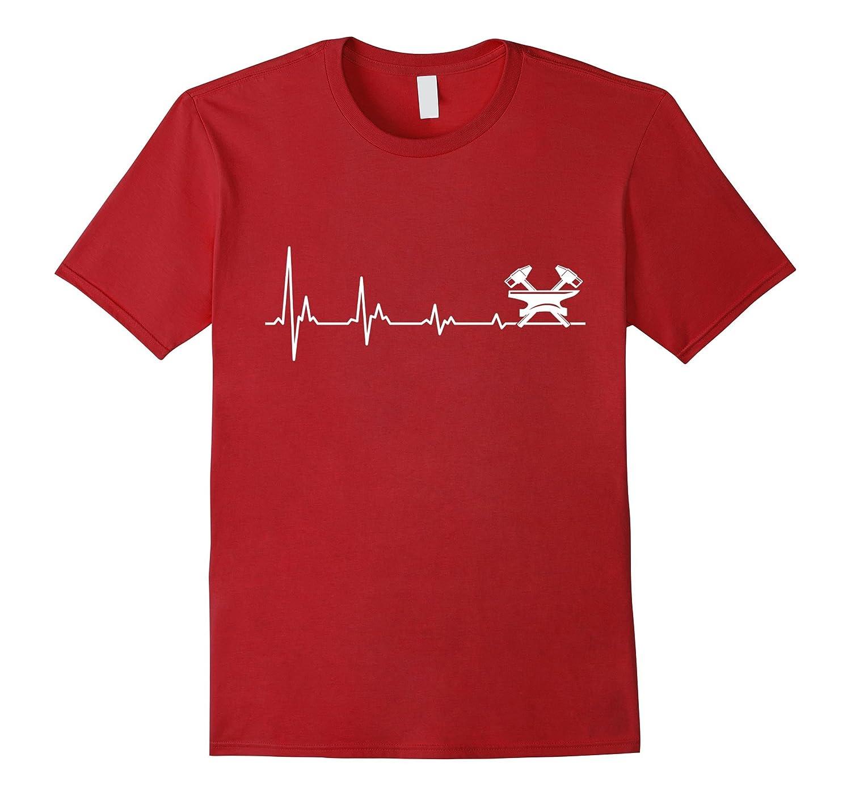 Mens Funny Blacksmith Shirt Heartbeat-Awarplus
