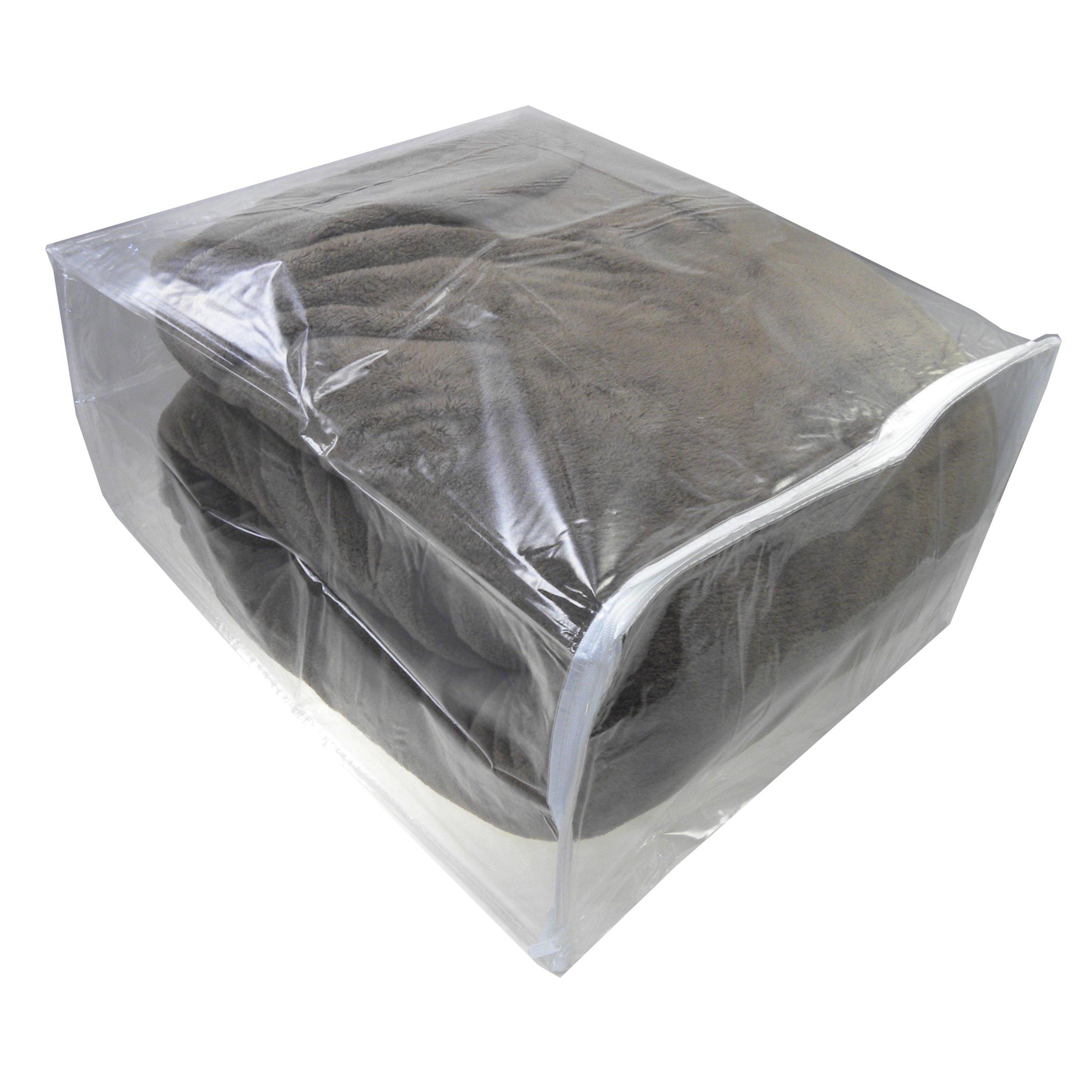 Clear Vinyl Zippered Storage Bags 15x18x9, Set of 10, AK Plastics by AntiqueKitchen by AK Plastics