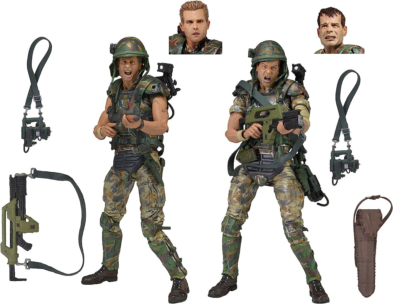 2 Pack NECA Aliens 7 Scale Action Figures