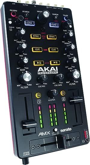 Akai Professional AMX | Ultra-Portable USB Powered DVS-Enabled  2-Deck Mix Controller Including Serato DJ