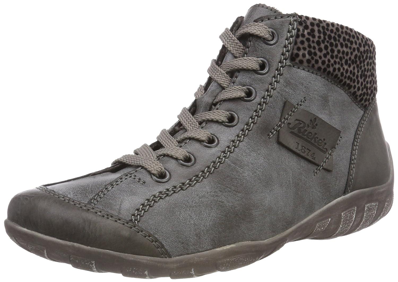 Rieker L6540 Zapatillas Altas de Deporte, para Mujer44 EU|Gris (Fumo/Asphalt/Grau 45)