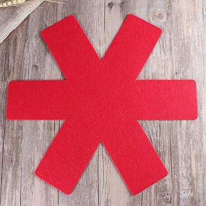 BESTOMZ 5pcs Protectores de Pan Pot,Premium Divider Pads para evitar el rayado separado y