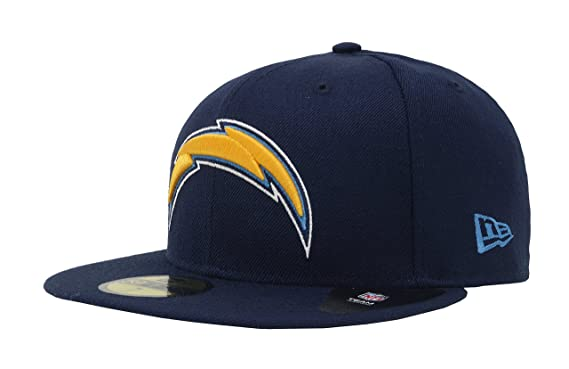 19b49bbfb6f180 New Era 59Fifty Hat NFL San Diego Chargers Official Navy Blue Fitted Wool  Cap (7