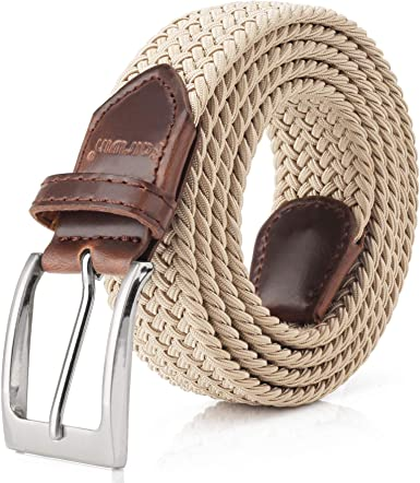 Vintage Casual Elastic Fabric Woven Stretch Waist Belts For Women Men DWE Elastic Braided Belt