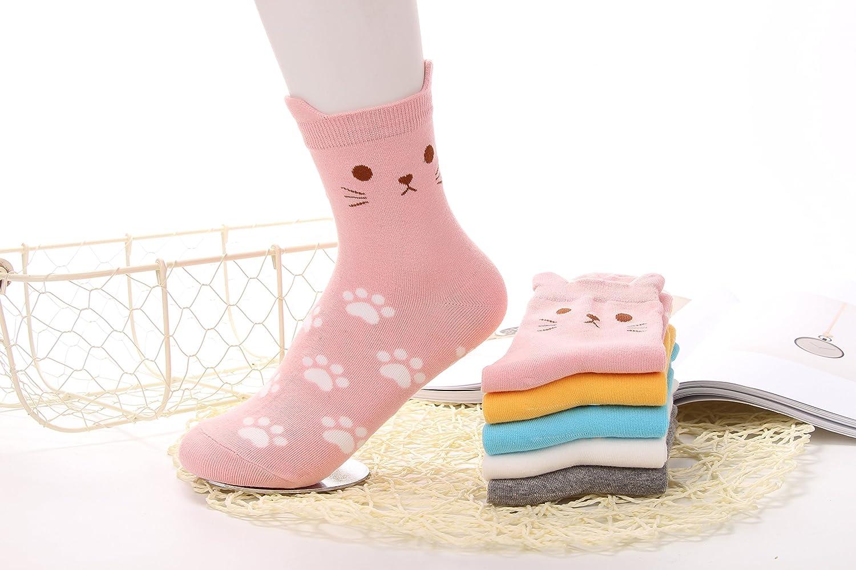 Crazy Cute Animal Women Teen Girl Casual Cotton Crew Socks Birthday Gift Cutie