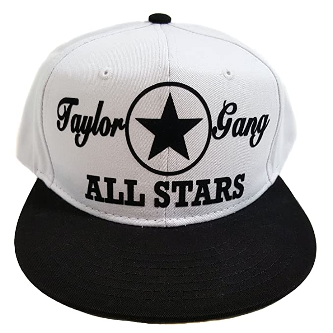 6a904bfc ... sale hatco taylor gang all stars flocked white black two tone cotton  snapback cap 55fcc 0f014