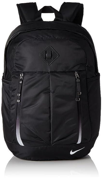 Nike Auralux Backpack-Solid Mochila, Mujer, Negro, Blanco, Talla Única