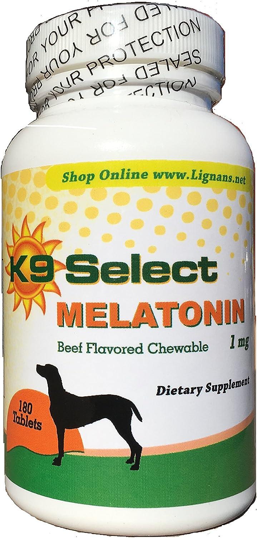 Amazon.com: K9 seleccione Melatonina para perros 1 mg ...