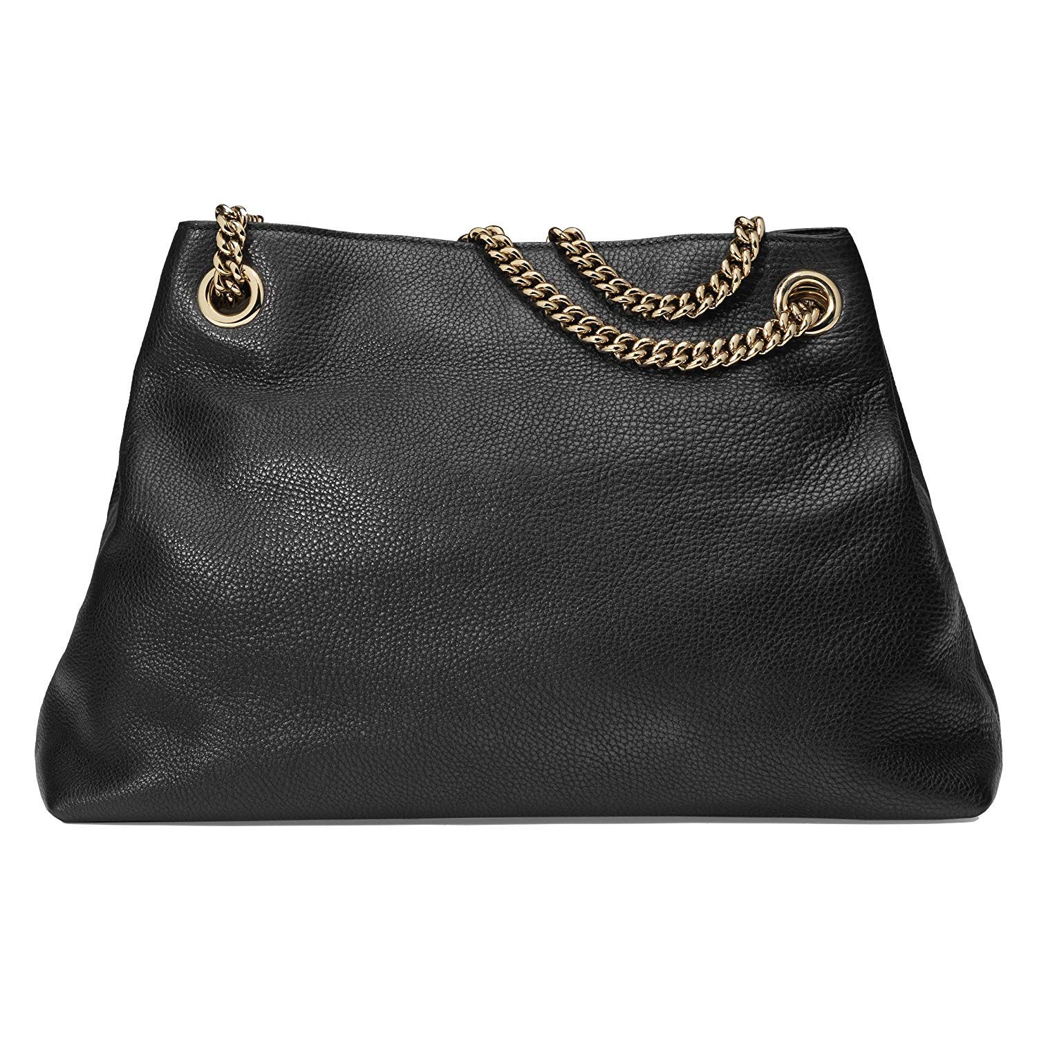 2ea5eabb2 Amazon.com: Gucci Soho Medium Black Double Leather Chain Shoulder Bag Tote  Black Gold New: Shoes