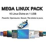 Mega Linux Collection - 15 Linux Operating Systems on USB: Mint XFCE, LXLE, Lubuntu, Bodhi, Antix, Q4OS, TinyCore, Chaletos, Peppermint, 4M, Debiandog, Slitaz, Slacko, Trisquel & Refracta.