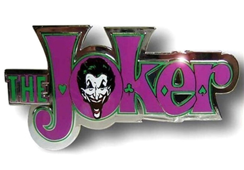 Batman Movie Joker The Character Text Joker in Rhinestones Finished Belt  Buckle  (Plain)