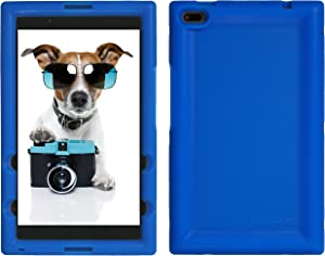 Bobj Rugged Case for Lenovo Tab 4 8 inch only TB-8504F or TB-8504X (NOT for TB-8304F or Plus Model TB-8704) - BobjGear Custom Fit - Patented Venting - BobjBounces Kid Friendly (Batfish Blue)
