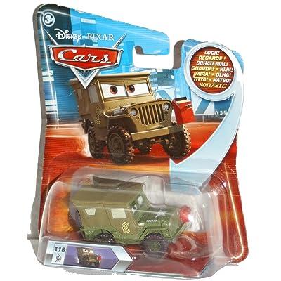 Disney/Pixar Cars Lenticular Eyes Series 2 Die-Cast Pit Crew Sarge 1:55 Scale: Toys & Games