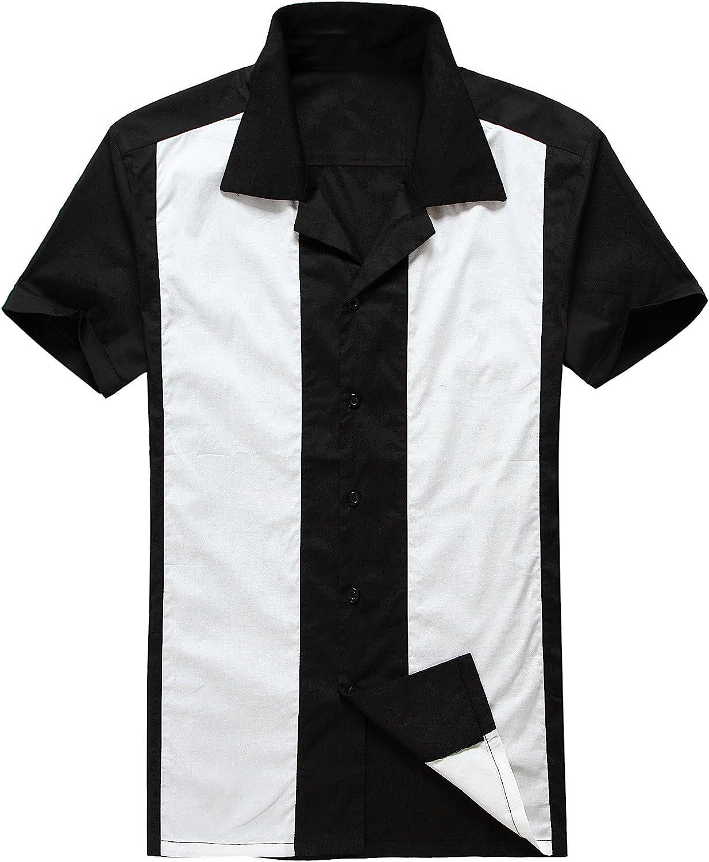 Candow Look Moda para Hombre Casual Camisas de Vestido Cowboy Blanco Manga Corta Vendimia: Amazon.es: Ropa y accesorios