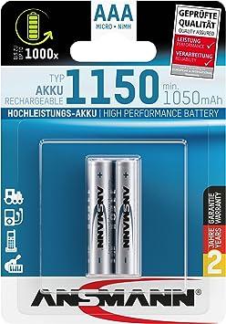 Ansmann Micro Aaa 1150 Pack Of 2 Elektronik