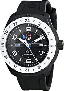 Luminox Mens SXC PC Carbon GMT Analog Display Analog Quartz Black Watch