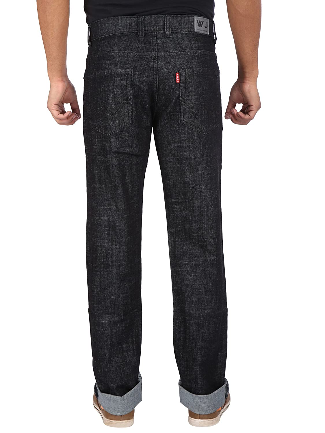 Wabba Mens Stretch Relaxed Slim Fit Jeans