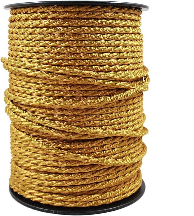 Avec 3 Broches C/âble Electrique Textile Pour Lampe 0,75mm/² Blanc-Noir smartect Longueur 1 Metre - Parfait Pour Les Projets De Bricolage