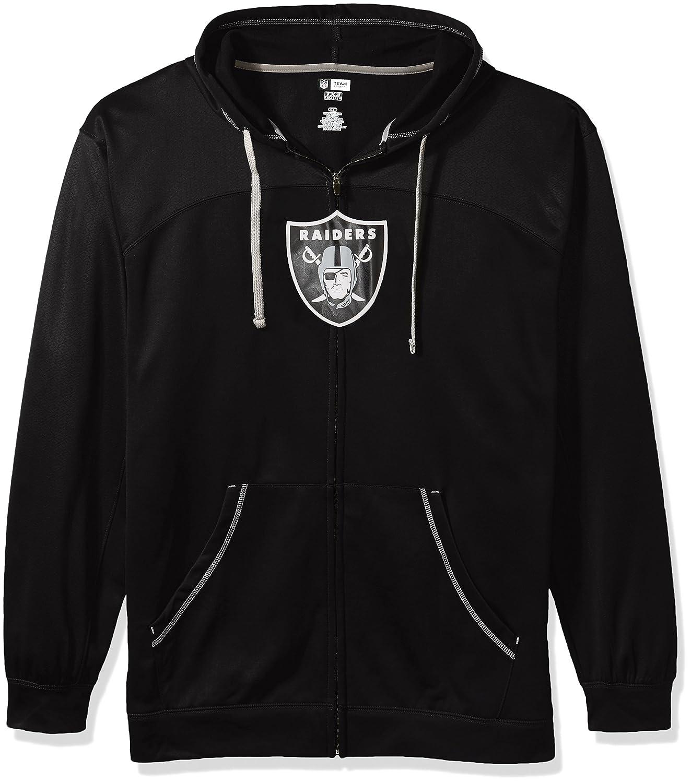 NFLメンズRaidersフルZipパーカー 5X ブラック/グレー B0752X7NBR