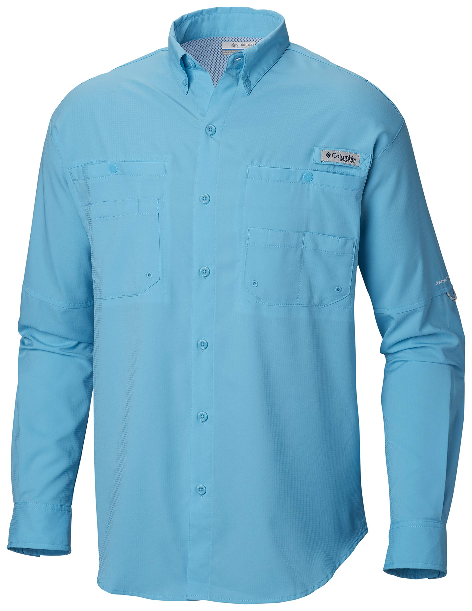 Columbia Men's PFG Tamiami II Long Sleeve Shirt , Atoll, Large