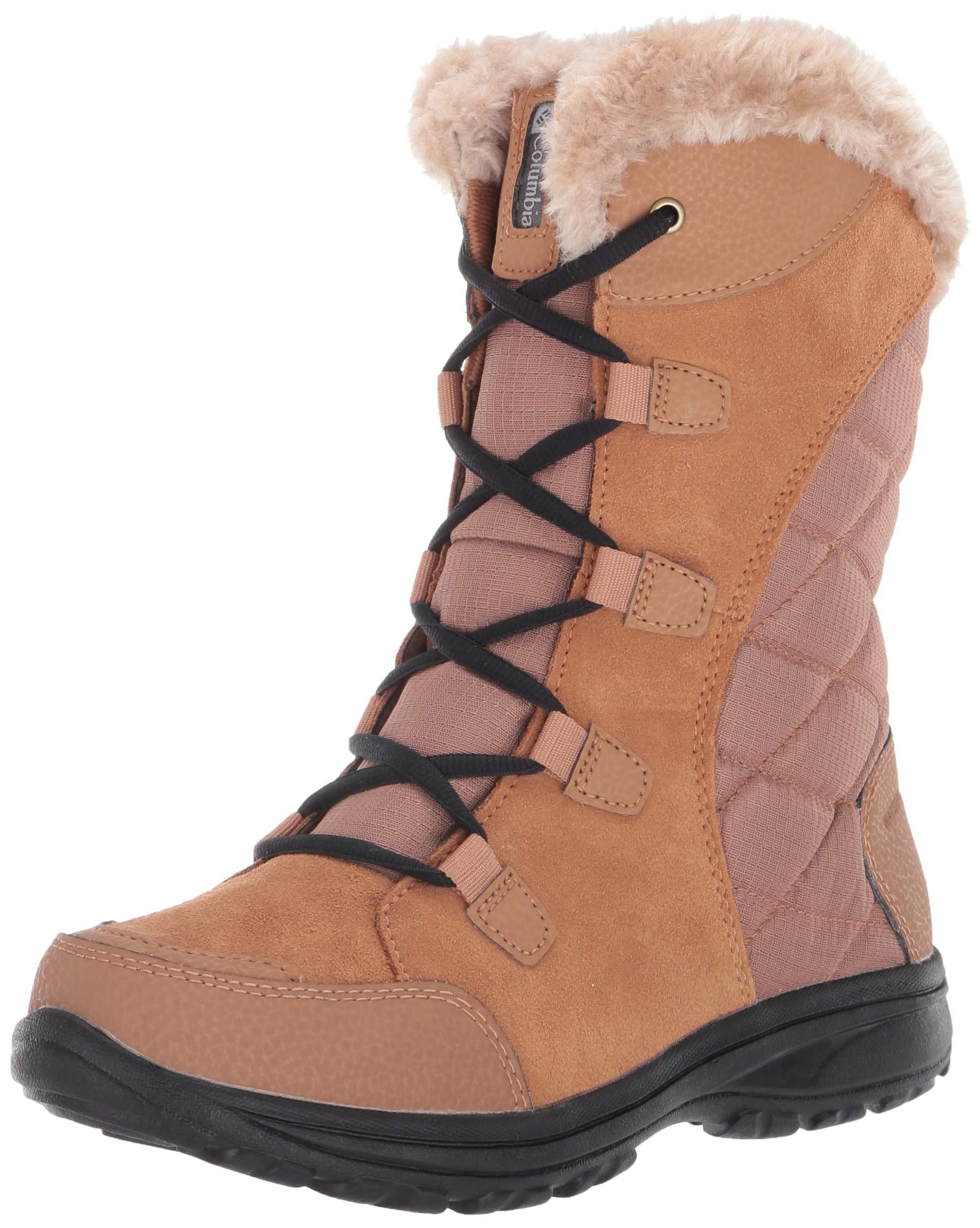 Columbia Women's ICE Maiden II Snow Boot, elk, Black, 12 Regular US by Columbia