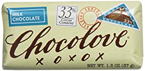 Chocolove Pure Milk Chocolate Mini Bar, 1.3000-ounces (Pack of 12)