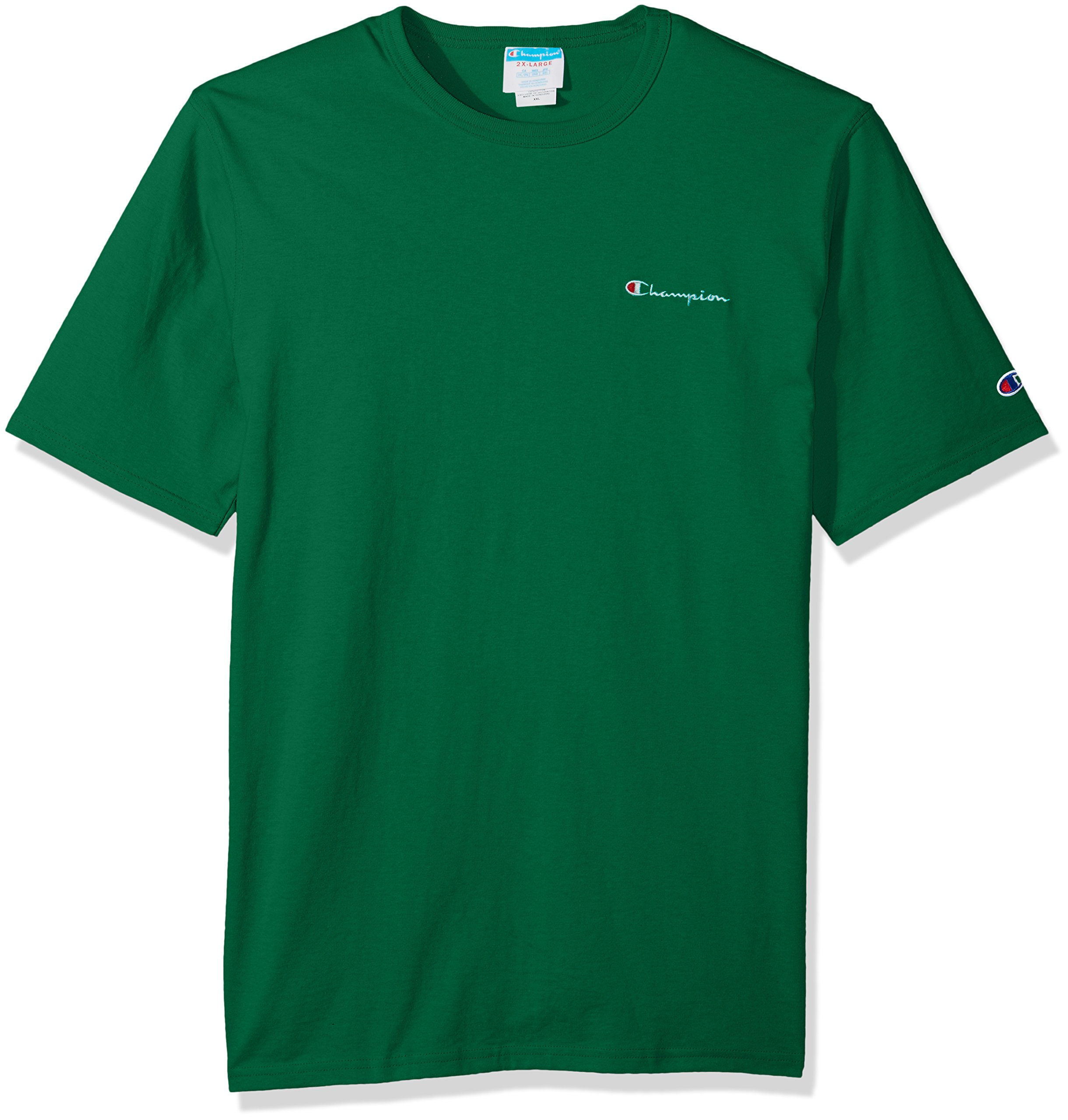 Champion LIFE Men's Heritage Tee, Kelly Green Script Embroidery, XL