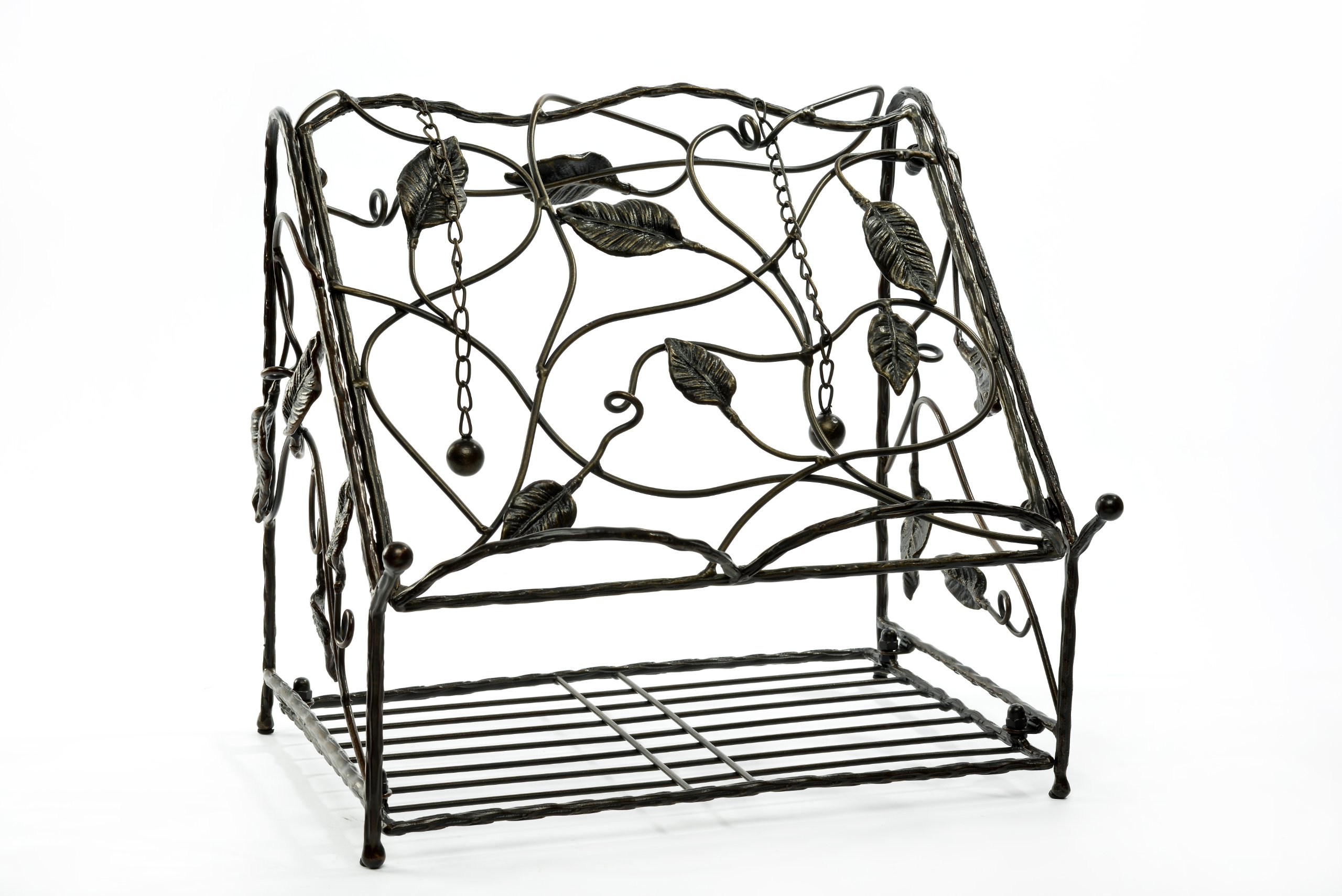Caffco International Biltmore Inspirations Collection Arbor Metal Vine Cookbook Stand