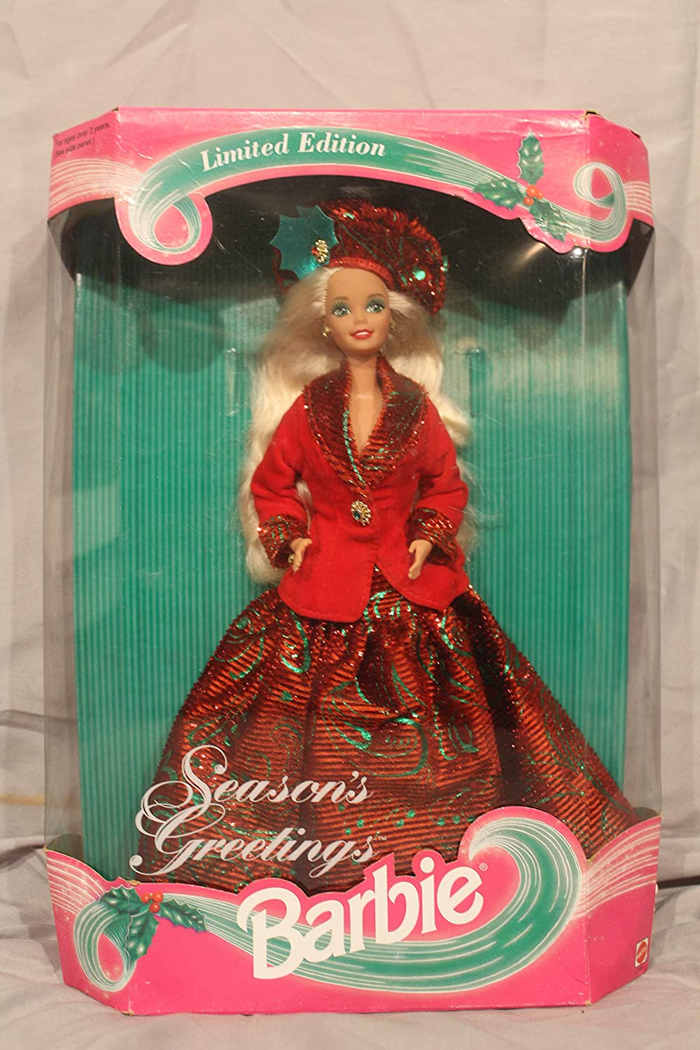 Mattel Max 63% OFF Season's Greetings Barbie Limited Edition - online shop