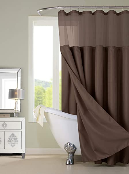 Image Unavailable Not Available For Color Dainty Home CSCDLBR Complete Waffle Shower Curtain