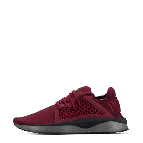 7e949e24598 Puma Men s Tsugi Netfit Evoknit Tibetan Red Black-Quiet Shade White  Sneakers-8 UK