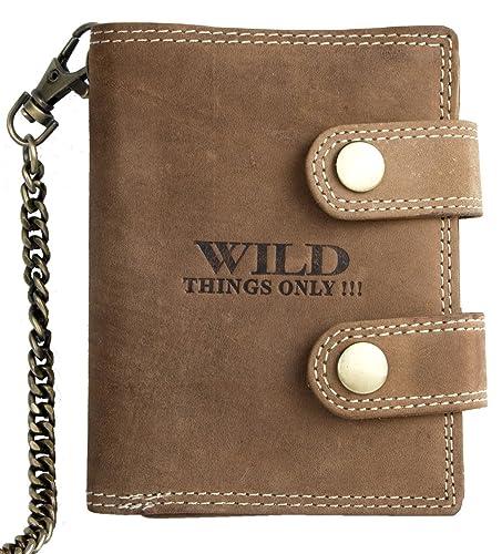 d779e7a39a91 Men's Biker's Wallet with 20 Inch (50 cm) Long Chain to Hang: Amazon ...