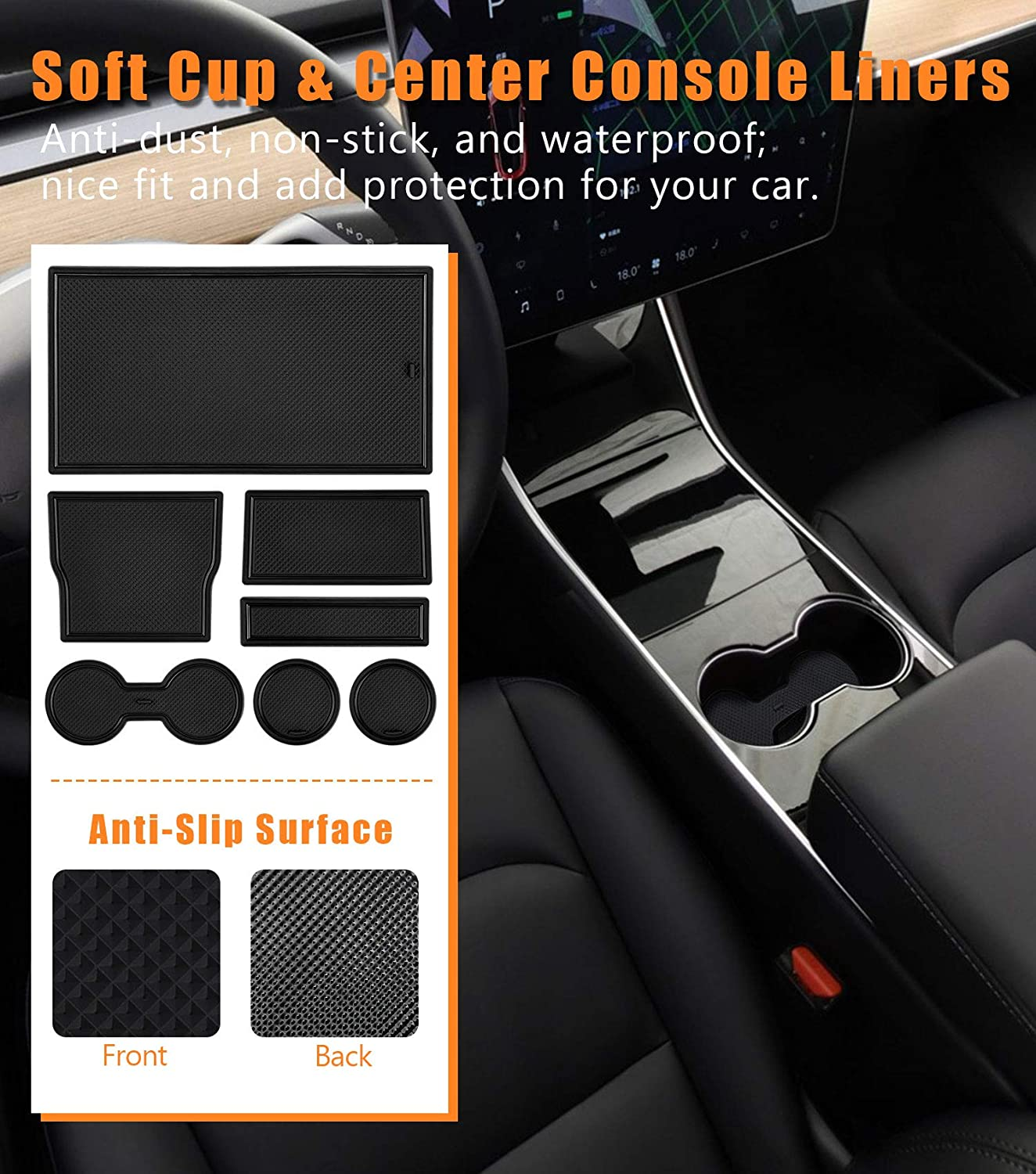 2012 Vanku Car Floor Mats Fit Jeep Grand Cherokee 2011 2013 2014 Free Brush Included 2015 All Weather Floor Liners Full Set 5 Pieces Heavy Duty Truck Mats