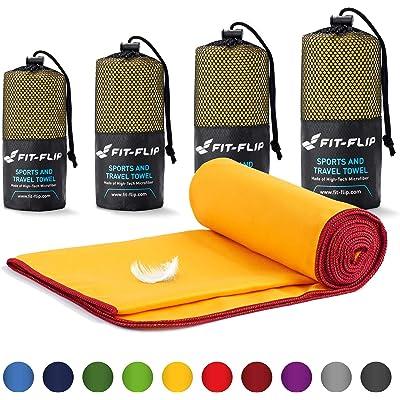 Fit-Flip Toalla Microfibra – 16 Colores, Muchos tamaños – compacta, Ultraligera y de Secado rápido – Conjunto de Toallas Gimnasio Toalla Gym, Toalla Viaje y Toalla Piscina