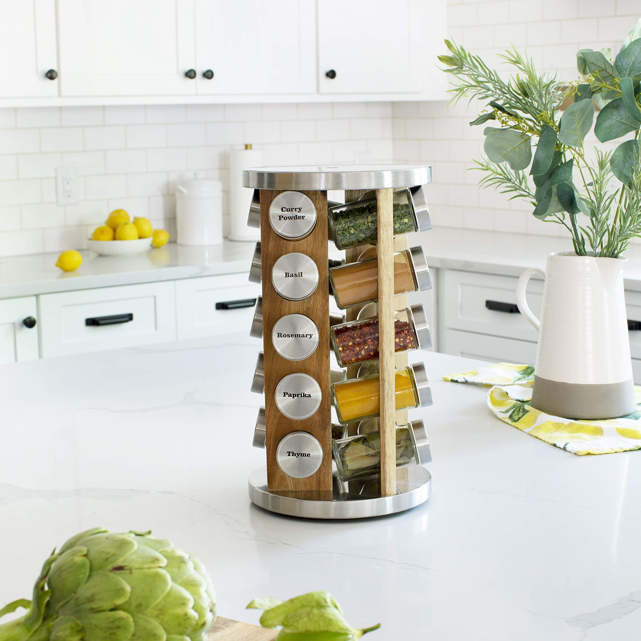 Orii GSR3519-L Rotating Spice Rack, Light natural wood by Orii
